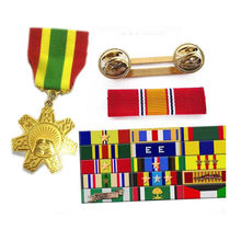 custom wholesale screen heat transfer printed woven polyester nylon military medal ribbon