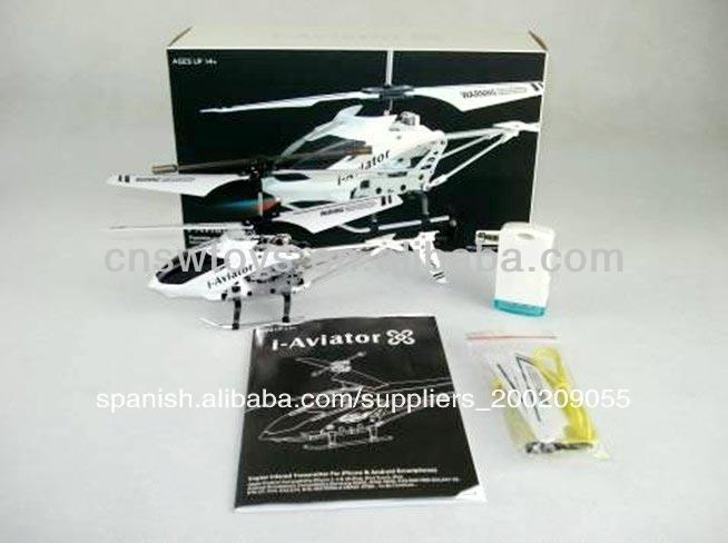 Canal 3.5 iphone de control rc helicóptero 802i