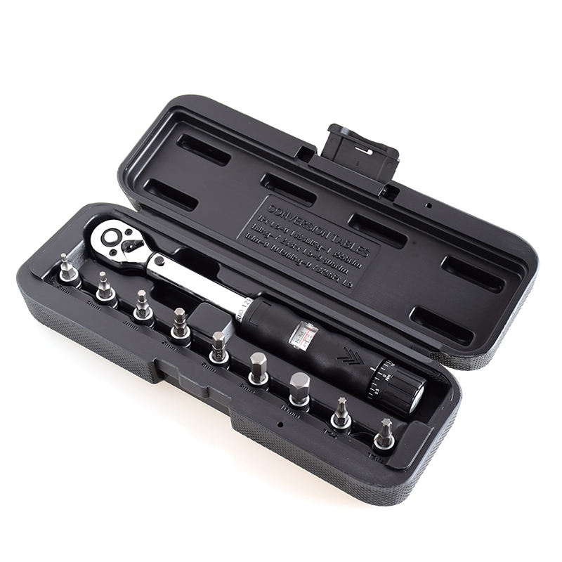 "1/4""DR 2-14Nm bike adjustable torque wrench set Bicycle repair tools kit mechanical ratchet torque spanners preset torque wrench"