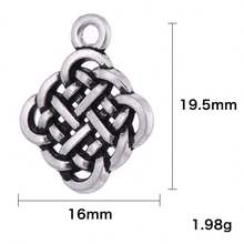 New Arrival Fashion Antique Silver Zinc Alloy Fit Jewelry DIY Wholesale Chinese Endless Knot Chinese knot Pendant  Charm