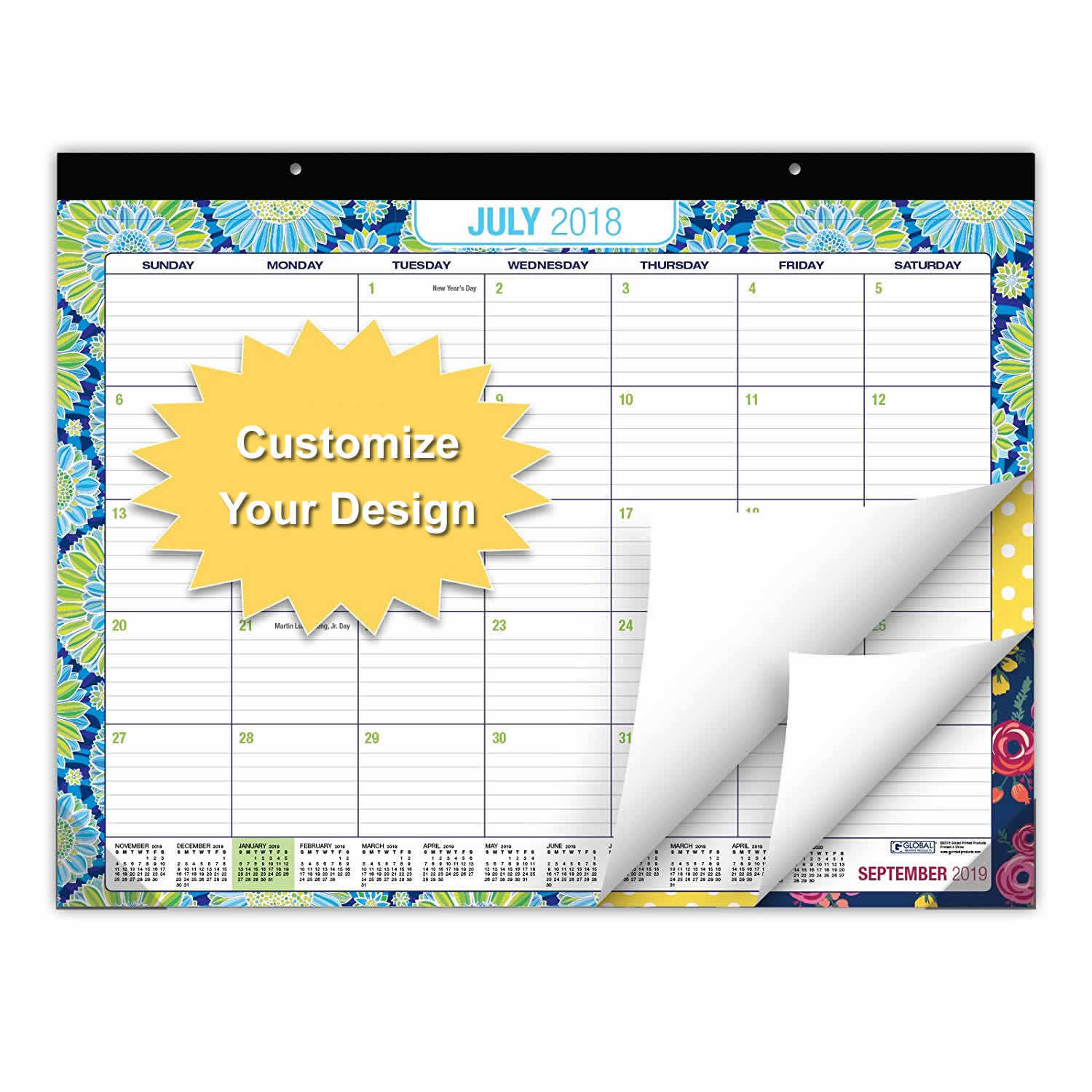 2020 new arrivals snap on personalised planner calendar models custom printing page a day calendar whiteboard manufacturer