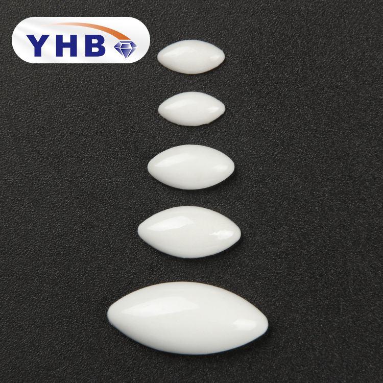 Toplu Oval rhinestones toptan fantezi seramik dekorasyon flatback pearl rhinestone