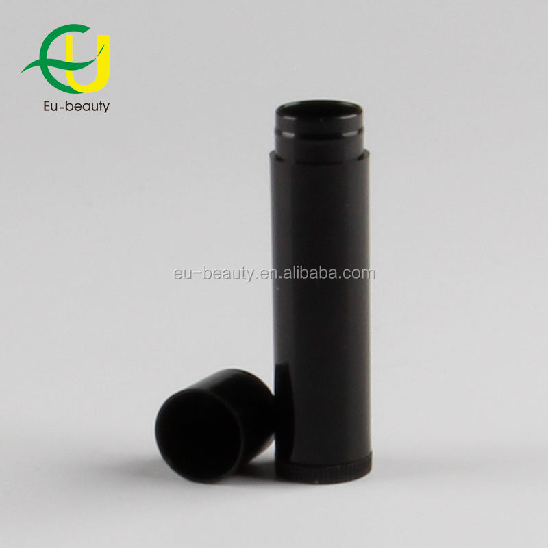5g black color cosmetic empty chapstick glue tube