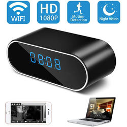 1080P P2P Wifi Pinhole Hidden Alarm Clock Camera, P2P Remote Control Wi-fi Live View (Real-time Video Wifi Mobile Phones PQ258