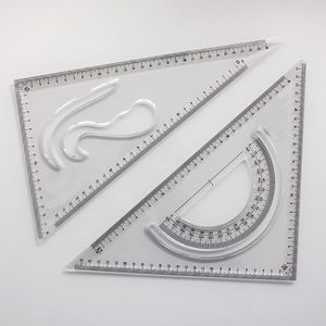 RULER MANUFACTURER CUSTOM BRAND LOGO TRIANGLE RULER SQUARE SET 30/60 AND 45/90 DEGREES SET OF 2 30CM