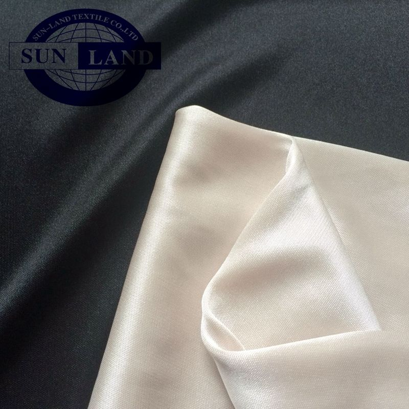 100% polyester 50D shiny knitted lining interlock fabric