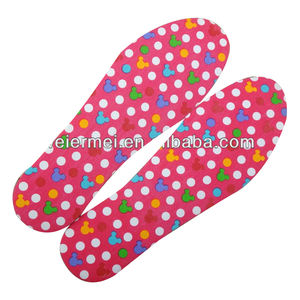 Colourful Printed Latex Heat Insoles