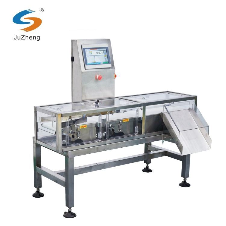 Automatic online conveyor belt check weighing scales for food processing production line