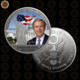 WR Limited Edition Metal American Statue of Liberty Model Novelty Silver Plated USA President George W. Bush Coin Crafts 40x3mm