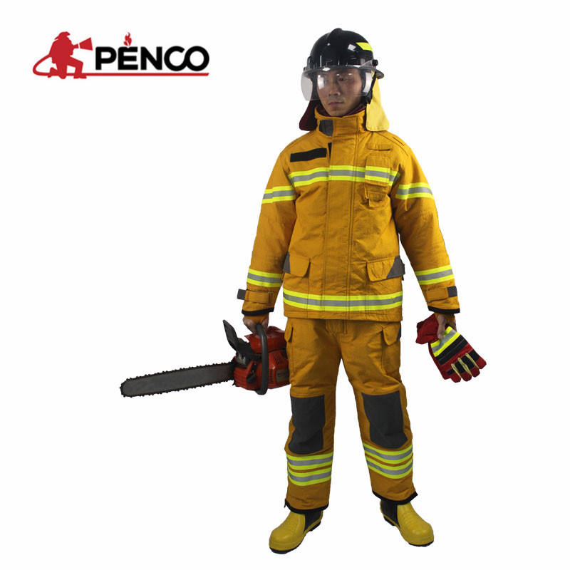 high quality coat pant men high neck fire suit used firefighter suit