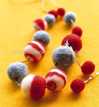 hot new products eco friendly handmade wool felt ball necklace fashion necklaces 2018 made in china wholesale alibaba