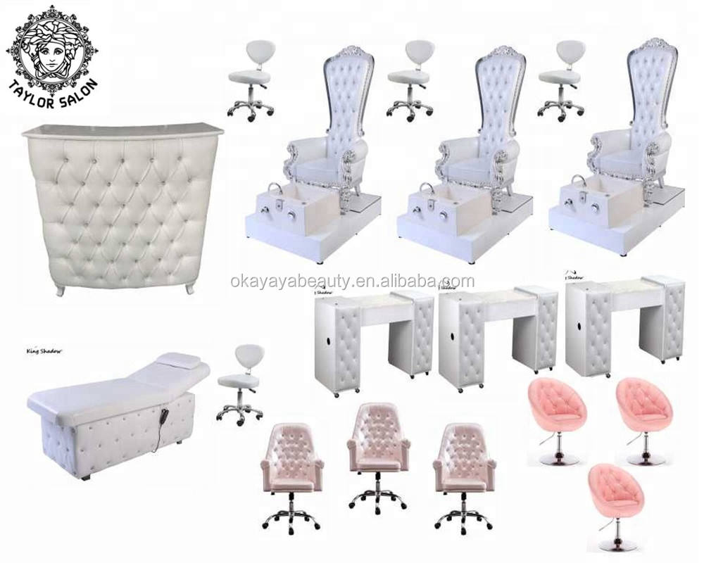 Luxury nail table salon furniture manicure and pedicure sets foot spa chairs pedicure chair