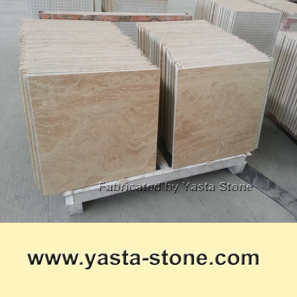 Discount Beige Travertine Tiles offered By Factory