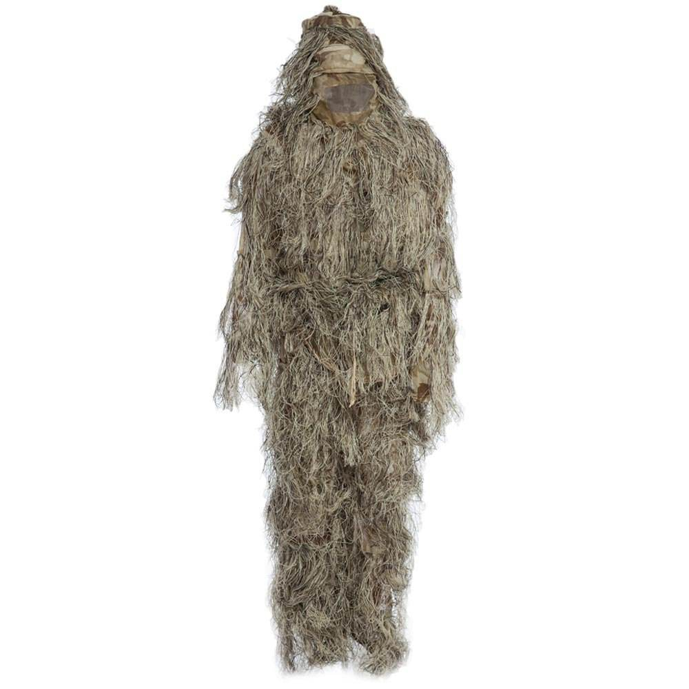 Hunting Ghillie suit Camouflage Suits Set 3D Bionic Leaf Hunting Disguise Uniform Jungle Military Train Hunting Cloth