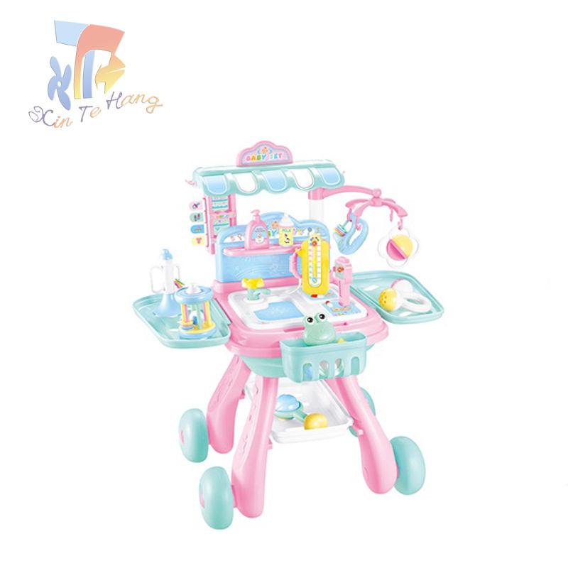 Niños cuidado del bebé traje cesta de la compra juego de imaginación juguete
