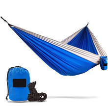 Double Hammock - Lightweight Parachute Portable Hammocks for Hiking , Travel , Backpacking , Beach , Yard . Gear Includes Nylon