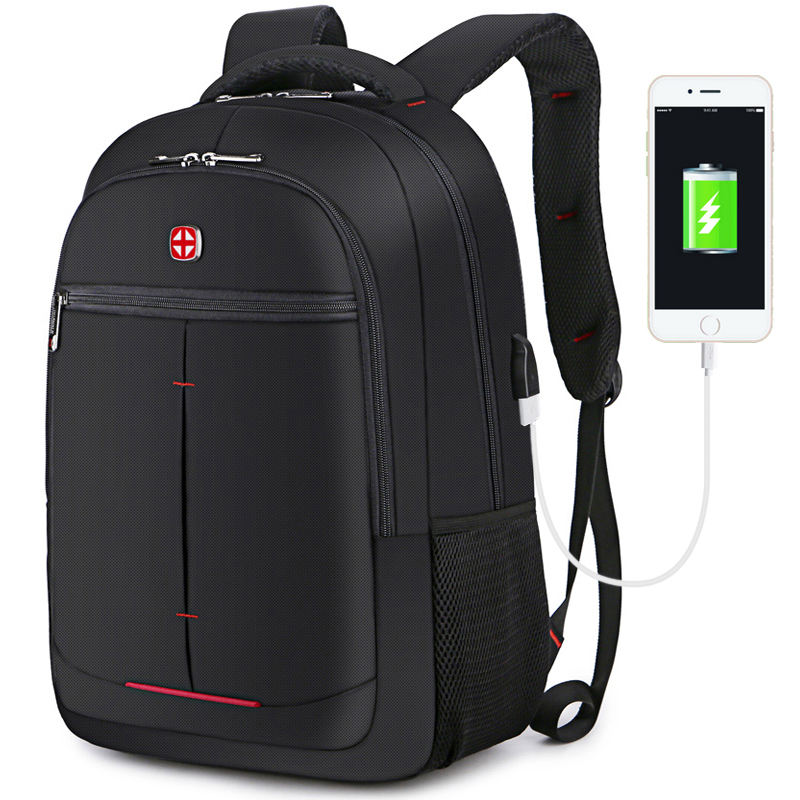 2019 wholesale business travel school waterproof backpack bag men's USB battery charging anti-theft laptop backpack