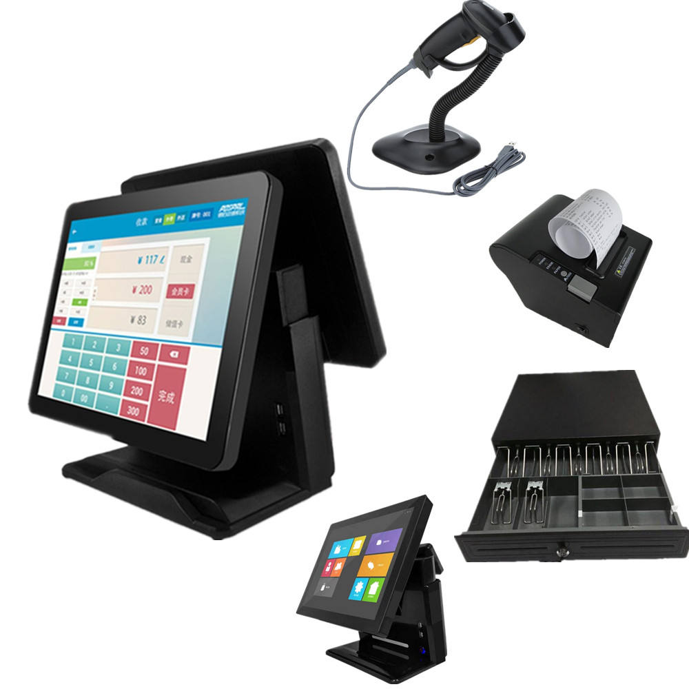 "Manufacturer Supplier 15"" white color tpv touch screen pos system"