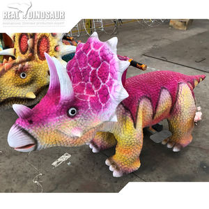 12V Playground Coin Operated Electric Simulation Dinosaur Ride On Car For Children