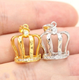 New Designs 925 Sterling Silver Pearl Cage Crown Pendant Gold Wholesale