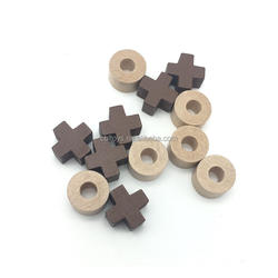 customized high quality wooden X O shape tic tac toe board game pieces