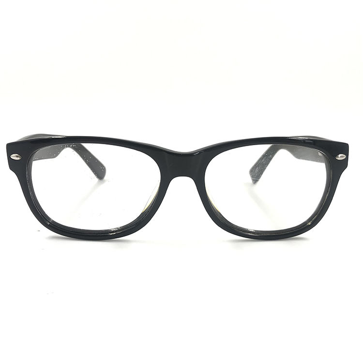 Promotion acetate frame Big black frame glasses with Silver decoration Steady type of glasses use for young man & old man