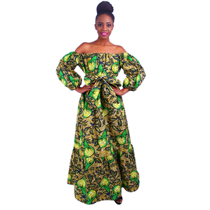 100% Cotton fashion African traditional dresses and skirts for women clothing