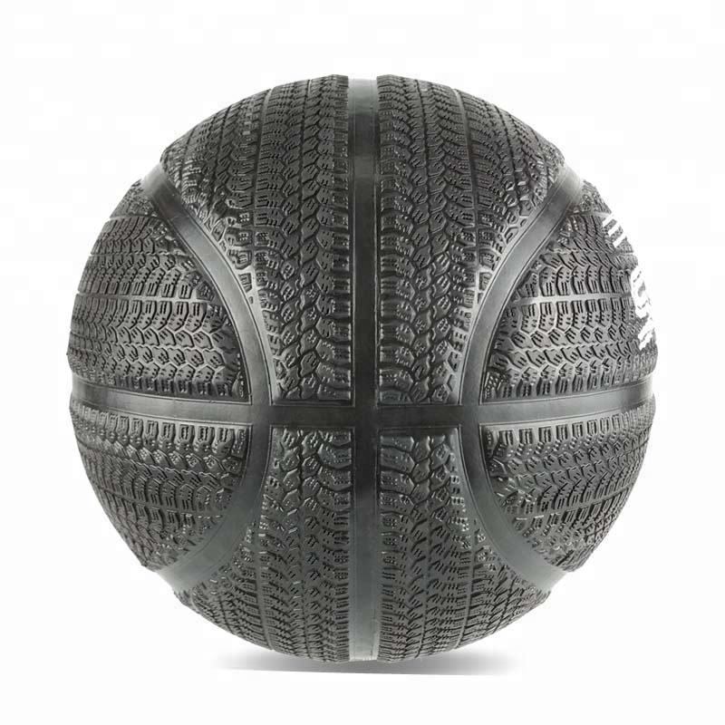 Official Size 7 Tire-Tread Surface Rubber Street Basketball Ball