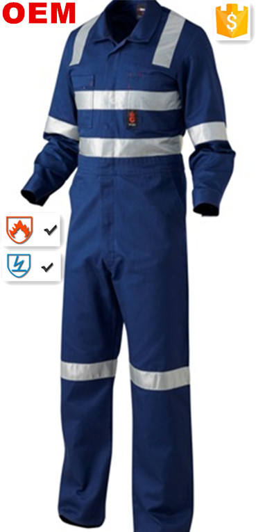 coverall /100%cotton oil refinery work wear coverall for oil and gas