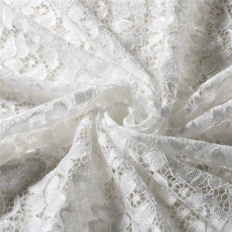 Handmade Natural hand cut swiss lace fabric
