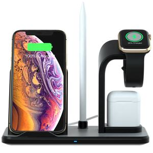 new products 2020 Patent approved 10W 9V 2A Detachable Split 3 in 1 wireless charger stand wireless charging dock for apple