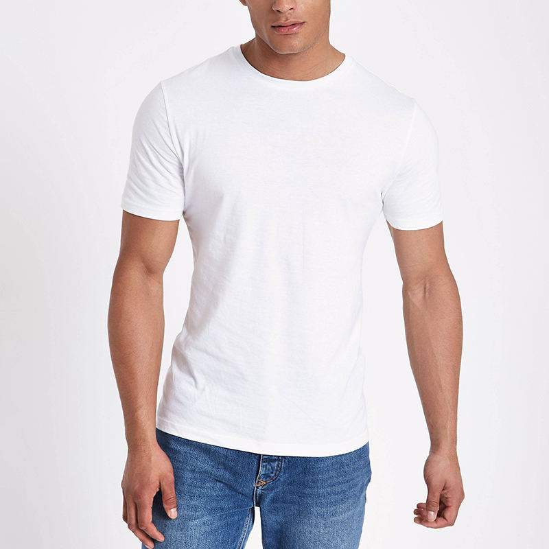 2019 Hot Sell Fashion OEM Private Label Custom Cheap Basic T shirts Men's Plain Round Neck T-Shirts