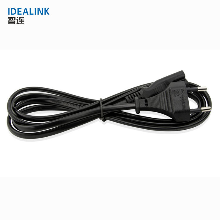 Wholesale price cheap ac pc power extension cable with plug 2 pin eu laptop power cord