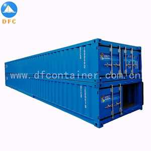 20ft China brand open top half tall transporting shipping container marine container