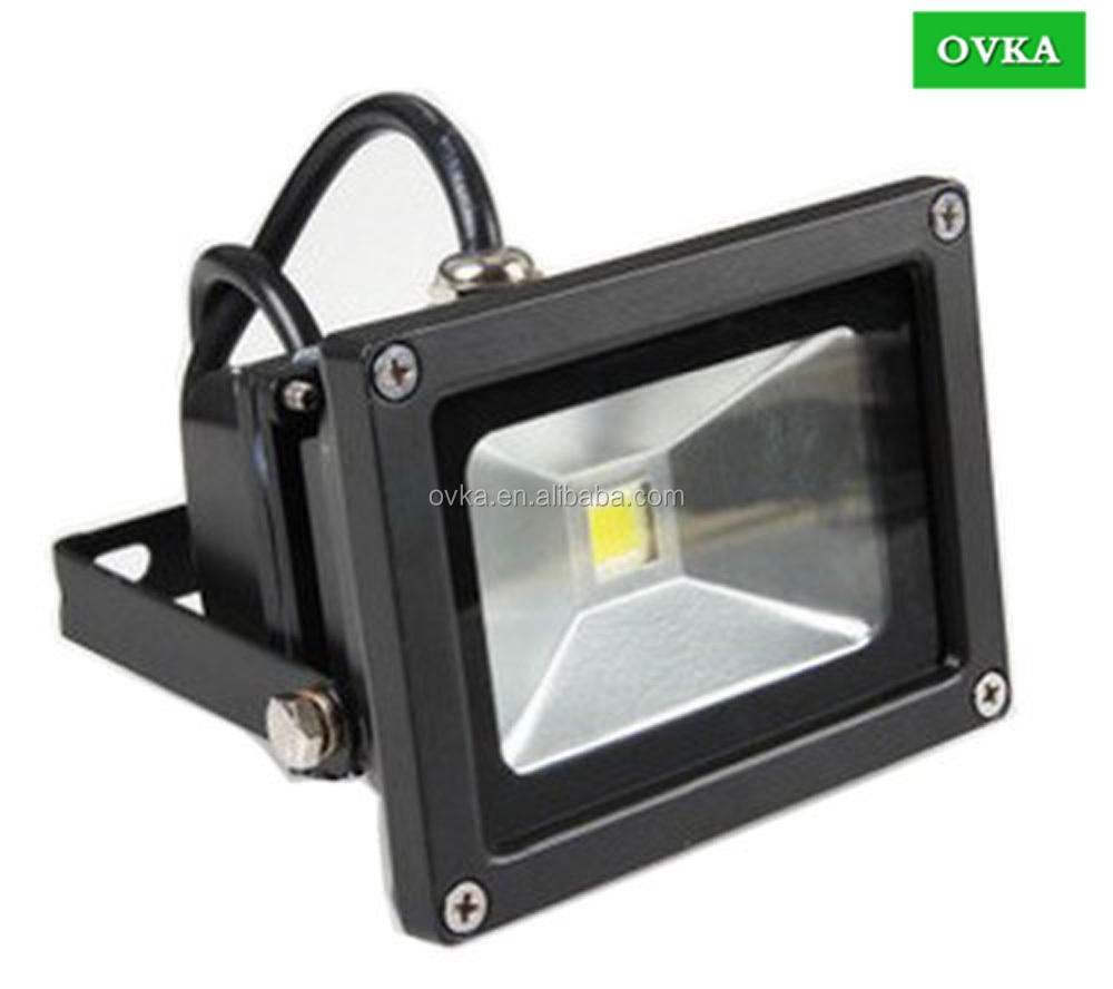 10W-100W LED Flood Light High Power waterproof 85-265V Outdoor floodlight Black case