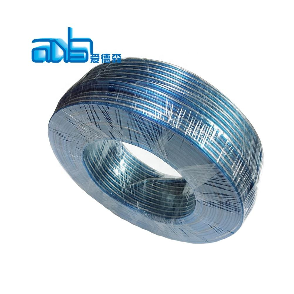 copper or CCA conductor colored clear PVC insulation 2core flat flexible 14 awg speaker cable