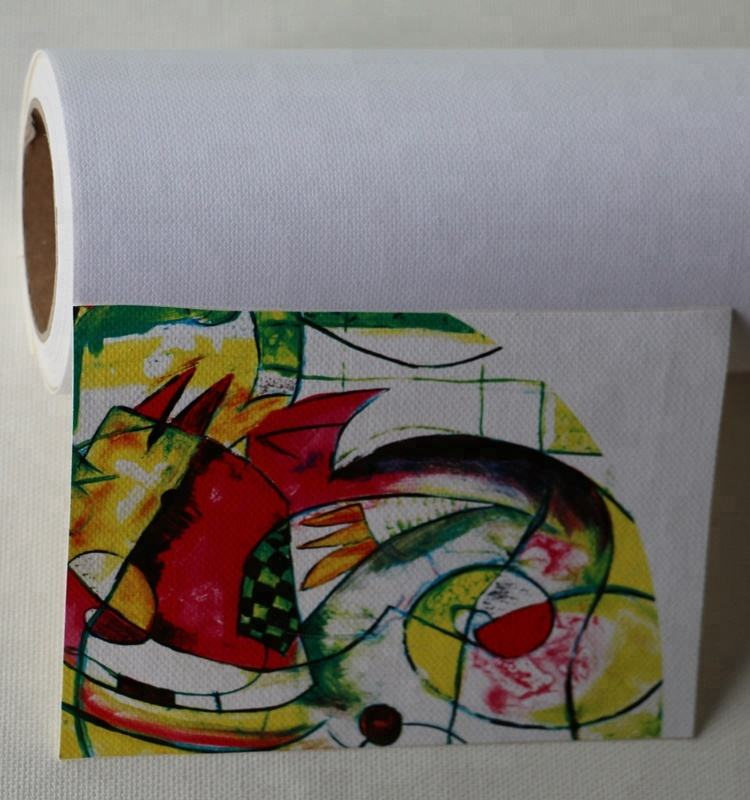 Large format media 100% cotton canvas roll inkjet blank canvas 380gsm for eco-solvent solvent latex uv ink printer