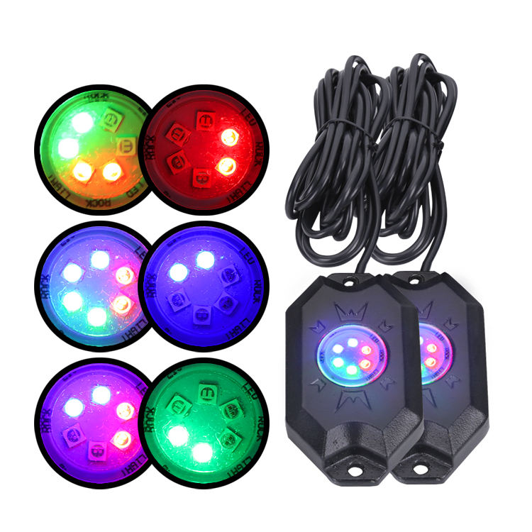 Waterdichte RGB Rock Licht Multicolor Knipperende Verlichting <span class=keywords><strong>Underbody</strong></span> LED Rock Licht Kit