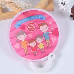 Popular Cartoon Design Outdoor Sports Toys Round Folding Flying Disc Fan