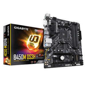 GIGABYTE AMD B450M DS3H 64GB DDR4 AM4 שקע PCI Express 3.0 מיקרו ATX האם