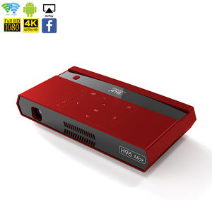 H96 Max android 2.4G/5G Wifi dlp 1080P hd mini smart projectors from h96 factory