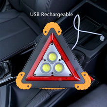 Outdoor Camping Lights Car Emergency tools Reflective Warning Triangle  LED Flashing Traffic Sign