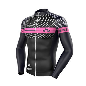 Mens Winter Long Sleeve Bicycle jersey Wear Racing Tops Bike Cycling Clothing Jersey