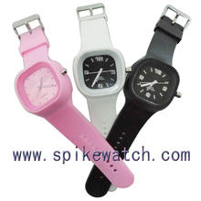 Factory direct supply custom logo silicone jelly watch for promotion