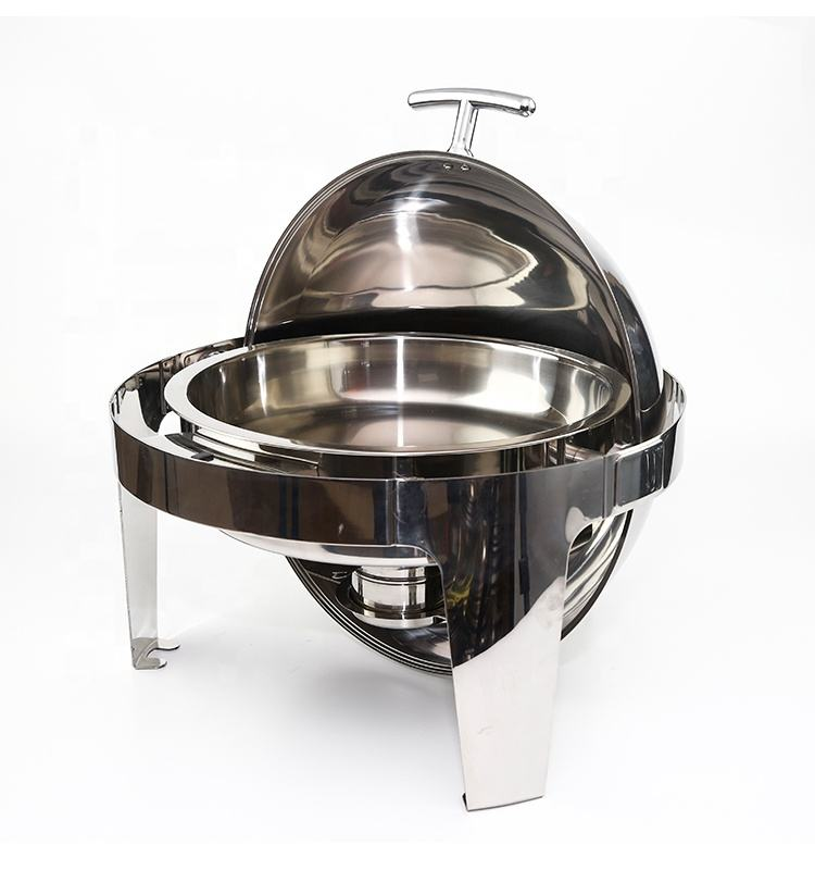 Best price Stainless Steel Round roll Top buffet food chafing dish warmer for sale