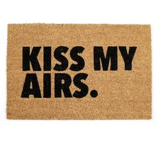 Kiss My Airs Nice Airs Wipe Your Airs Sneaker Welcome Funny Humor Coco Coir Doormats Coconut Fiber Door Mats