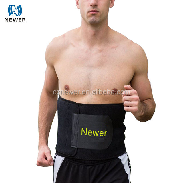 Soft best selling oem thermal sweat sports gym running neoprene waist slimming belt for man