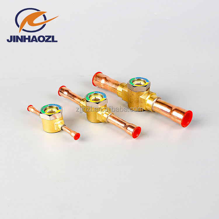 Refrigeration parts cheap price oil liquid level ODF SAE sight glass for condensing unit