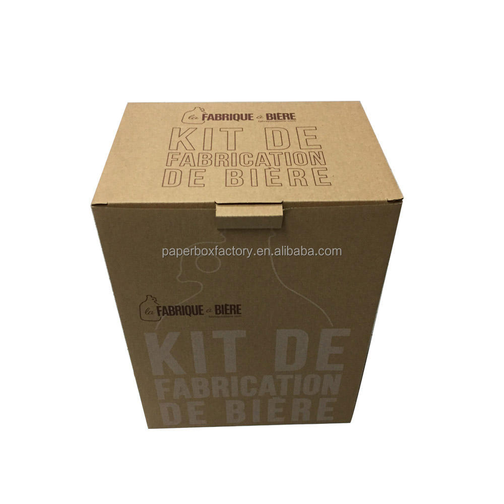 KRAFT CORRUGATED BAG IN BOX DISPENSER WINE PAPER WINE CARDBOARD BOX