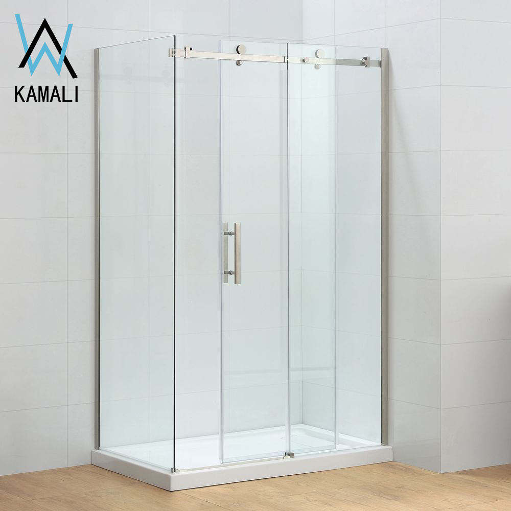 Hotel Wholesale Factory Price Customizable Sliding Square Tempered Glass Shower Cabin, High Quality Shower Enclosure